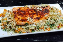 harissa-salmon-with-cauliflower-rice