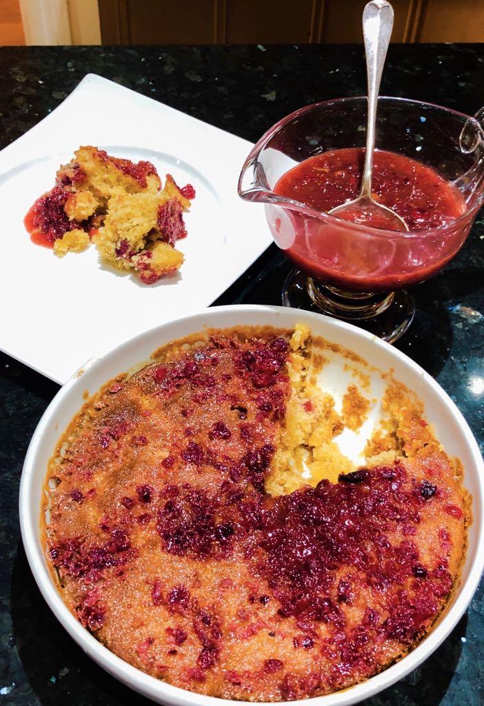 apricot & cranberry butterscotch pudding