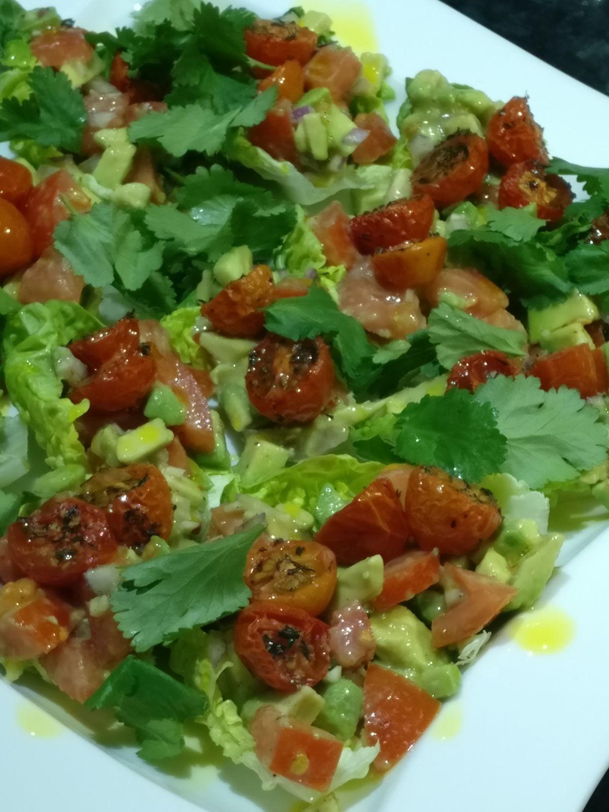 avocado salad with lettuce
